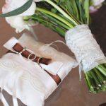 Подушка для колец с бантом-держателем