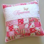 Подушка с вышивкой имени