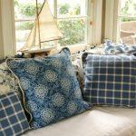 Подушки в стиле првоанс в синих оттенках