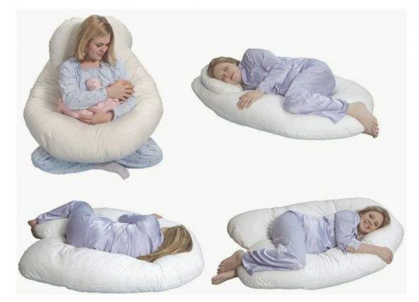 Использование U-образной подушки