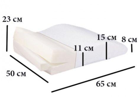 Размеры подушки для ног