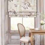 Римская занавеска с цветочным принтом