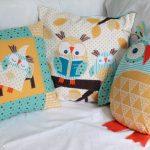 Самодельные подушки с совушками - милые и уютные