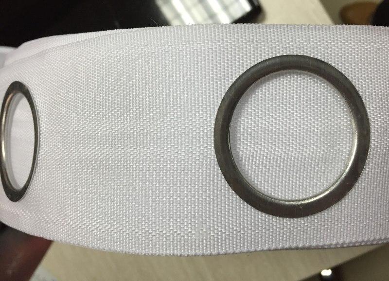 Капроновая лента с люверсами из металла