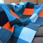 Сине-оранжевое покрывало-одеяло