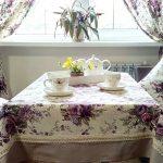 Текстиль в стиле прованс: подушки, шторы и скатерть