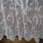 Ажурная вышивка на белом тюле