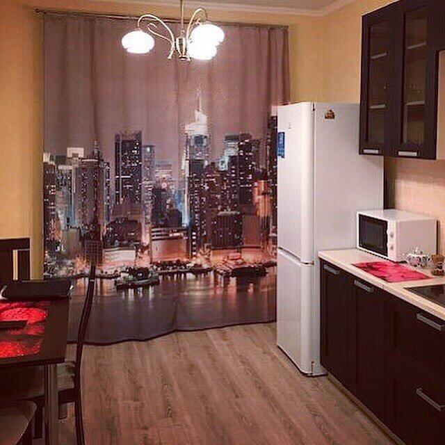 Реалистичная 3D печать на кухонных шторах