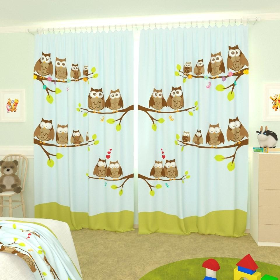Фототюль на окне в детской комнате