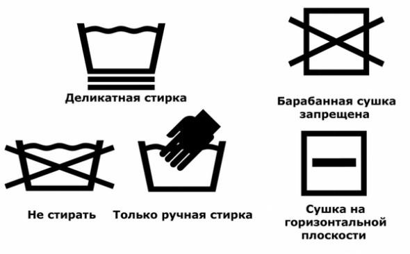 Значки на изделиях