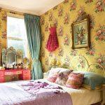 Плотные шторы в оригинальной комнате девочки подростка
