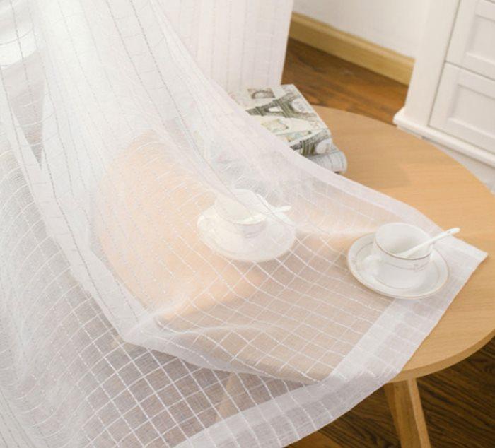 Белоснежная занавеска из прозрачного тюля