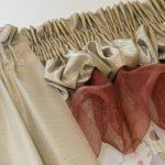 Комбинированный буф из шторы и тюля