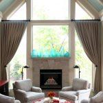 Оформление шторами окна сложной формы