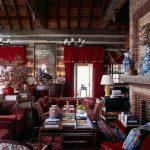 Бардовые шторы с мягким ламбрекеном
