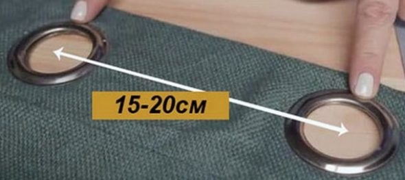 Среднее расстояние от 15 до 22 сантиметров