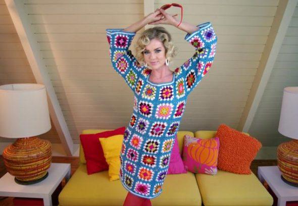 Платье из квадратиков