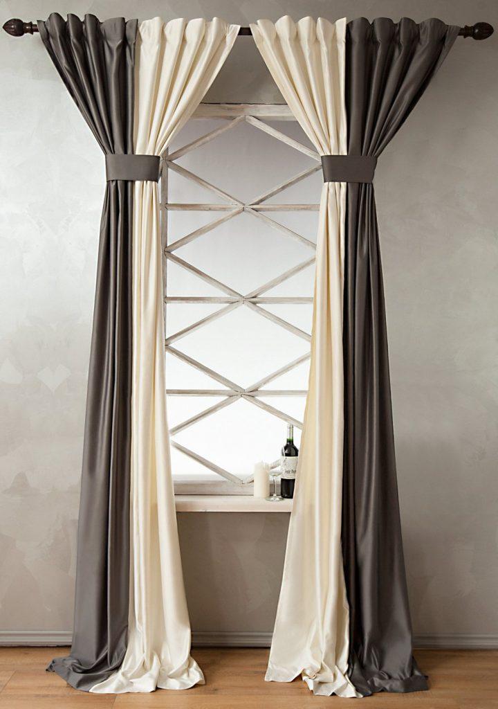 Светлые и темные шторы на одном окне