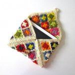 Косметичка-кошелек из бабушкиных квадратов