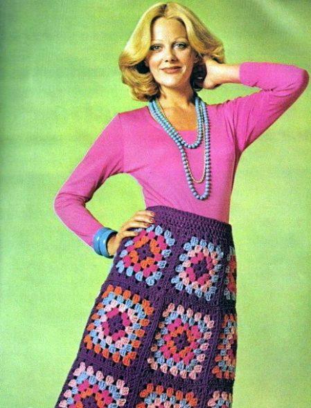 Красивая юбка из квадратов
