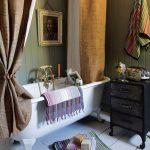 Дорогой текстиль в дизайне ванной