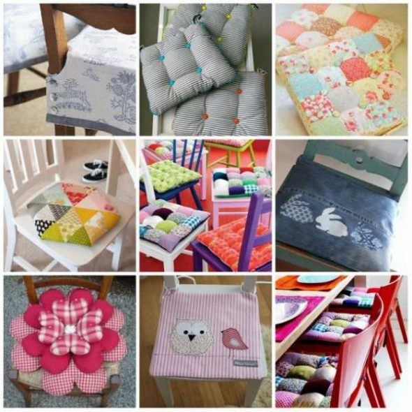 Мягкие подушки-сидушки
