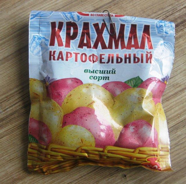 Пакетик с картофельным крахмалом для оклейки окон тюлем