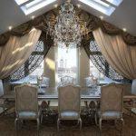 Шикарные классические шторы для столовой