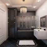 Интрьер ванной в стиле модерн