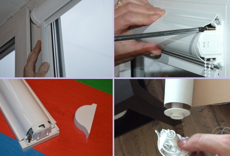 Снятие рулонной шторы закрытого типа