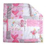 Стеганный плед-одеяло для девочки