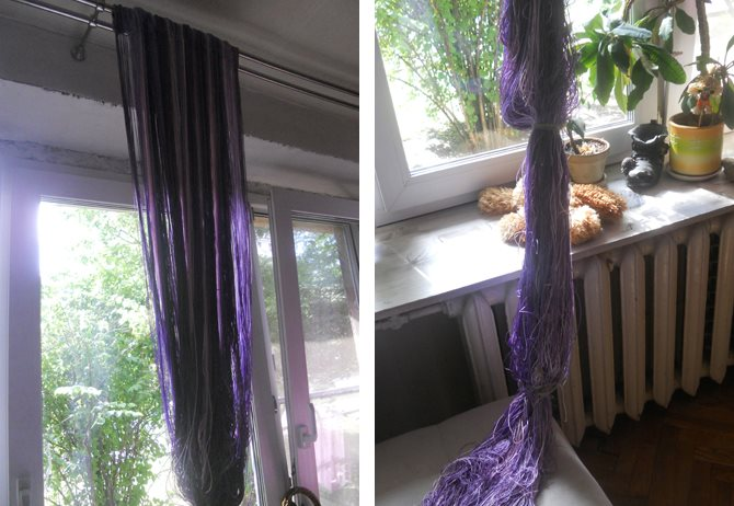 Сушка нитяных штор после стирки своими руками