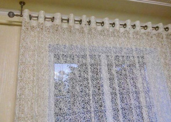 Вариант штор на люверсах