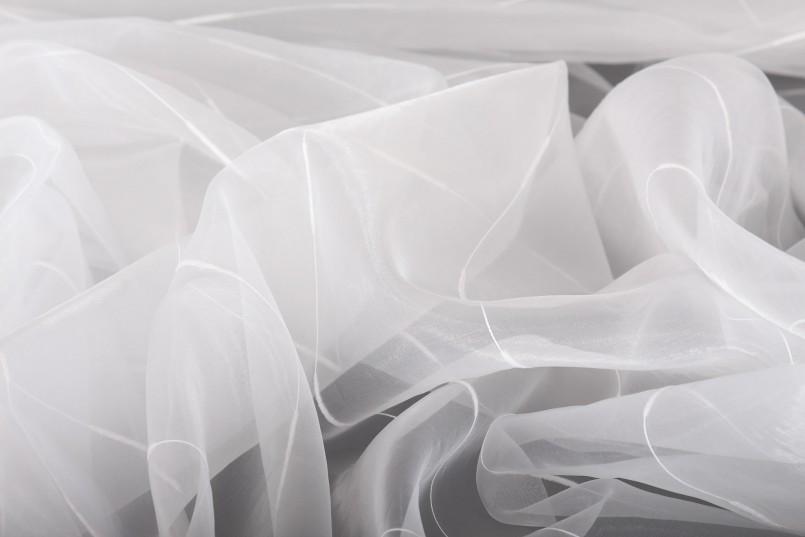 Легкая тюлевая ткань из органзы