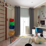 Занавески на люверсах для детской комнаты неправильной формы