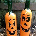 декор бутылок хэллоуин