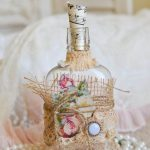 декор бутылок своими руками фото оформление