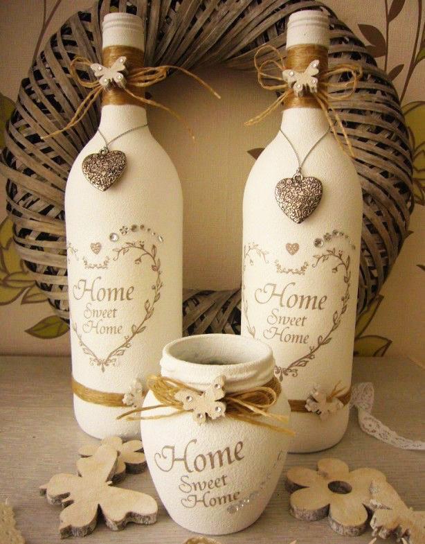 декор бутылок своими руками идеи фото