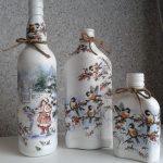 декор бутылок своими руками варианты фото