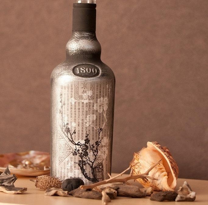 декор бутылок варианты фото