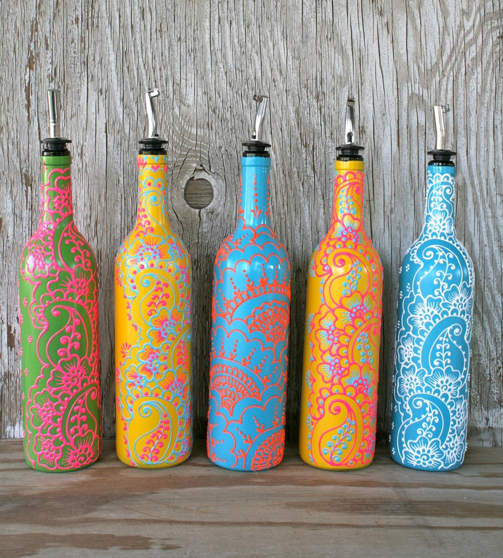 декор бутылок варианты
