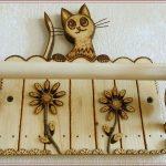 держатель для бумажных полотенец котик