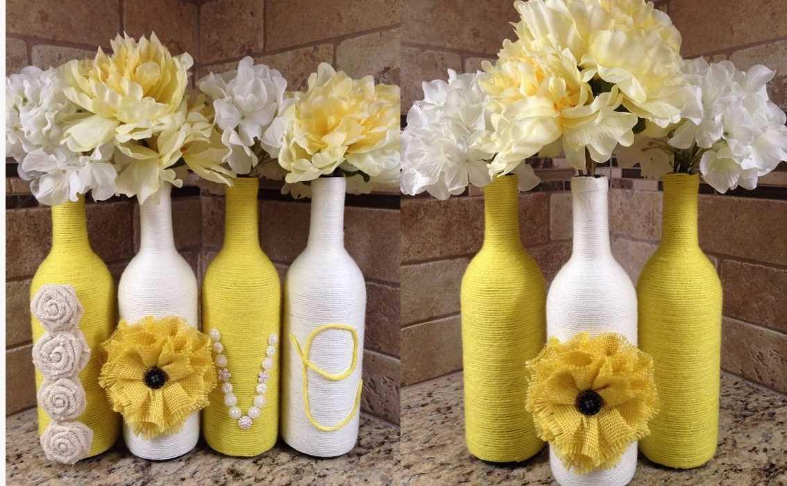 идеи декора бутылок