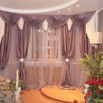 лиловые шторы в гостиной