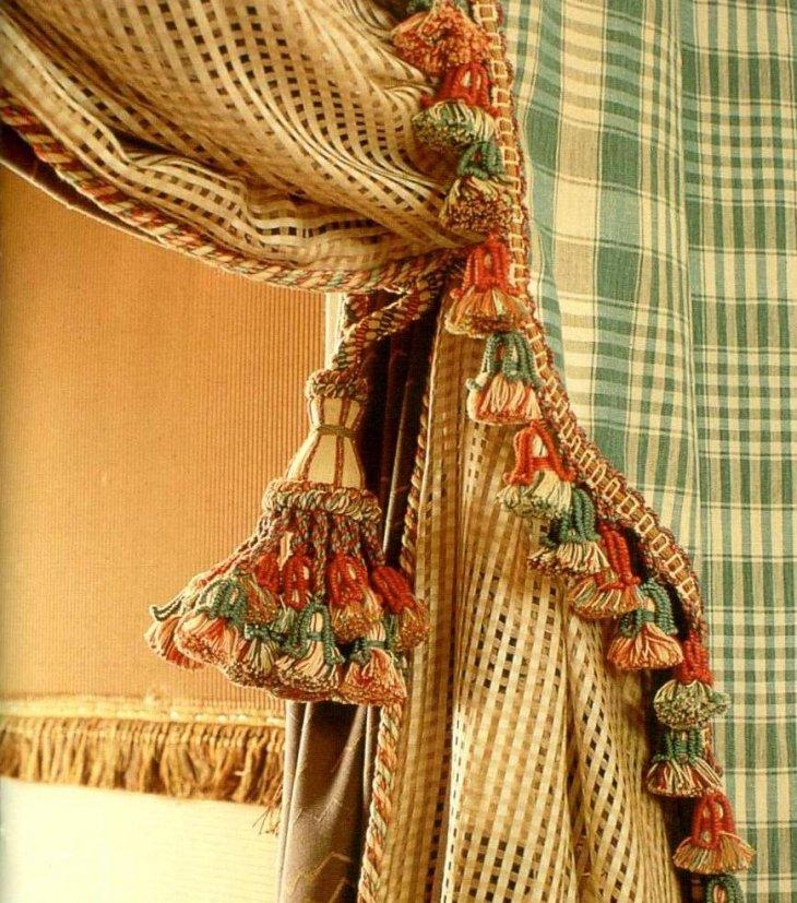 подвязки для штор кисти