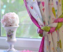 подвязка для штор на кухне