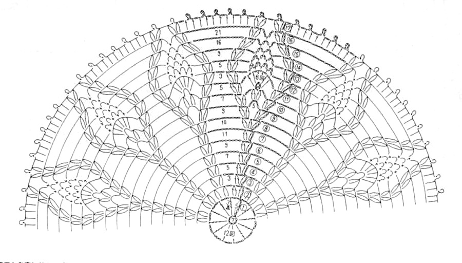 салфетки крючком схема фото