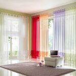 шторы из вуали цветные
