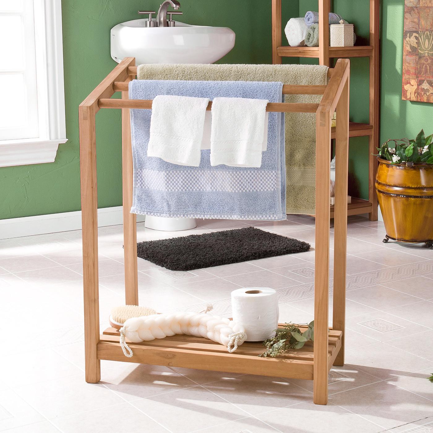 вешалка для полотенец в ванной интерьер идеи