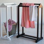 вешалка для полотенец в ванную идеи интерьер